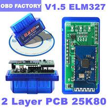 OBD2 ELM327 Bluetooth ELM 327 V1.5 ELM 327 Bluetooth OBD2 escáner ELM 327 USB OBD2 lector de código adaptador Wifi ELM 327 V 1 5 a