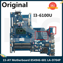 Laptop Motherboard DDR4 15-AY 854946-601 BDL50 LA-D704P I3-6100U for HP with SR2EU LSC