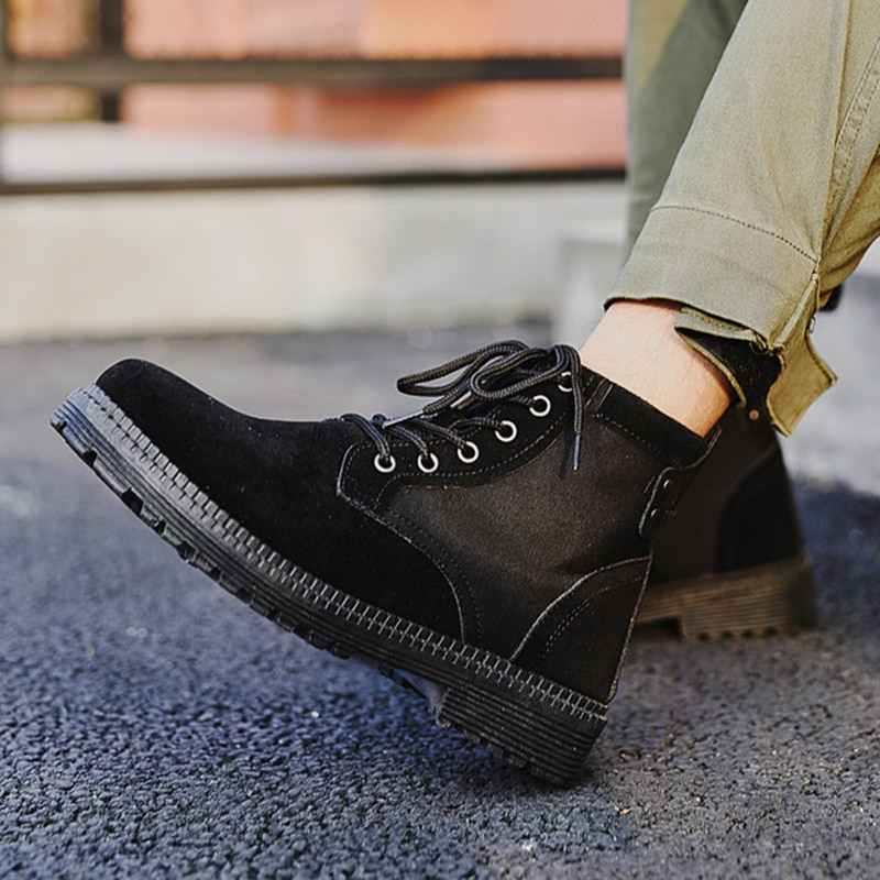 Oeak 2019 chaussures pour hommes à coudre Chelsea Bottes Pour Hommes décontracté coton chaussures Brogue Chelsea Hommes Bottes Chaussures Bottines