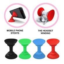Новинка, держатель для мобильного телефона, ПУ силиконовый, двойной конец, присоска, автомобильный держатель, присоска, сильная адсорбирующая Подставка для Android для Iphone