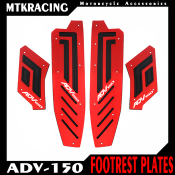 MTKRACING For ADV 150 adv150 2019 2020 Motorcycle Accessories Front and Rear Footrest Footboard Step Floorboards Foot pedal