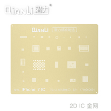 QIANLI laser 2D planting tin bead template gold mesh suitable for iPhone5 5s 6 6S 7 8 IC steel maintenanc tool