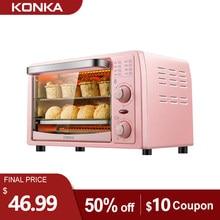 Konka forno elétrico 13l multifuncional mini forno frigideira máquina de cozimento casa pizza fabricante frutas churrasco torradeira forno