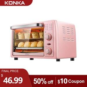 Электрическая духовка KONKA 13 л, многофункциональная мини-духовка, сковорода, выпечка, бытовая техника для приготовления пиццы, тостер для фру...