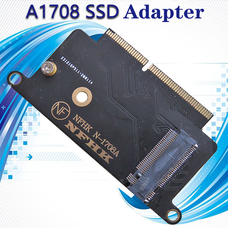 <font><b>M.2</b></font> NVME <font><b>SSD</b></font> Adapter for Apple Macbook A1708 Laptop NVMe <font><b>PCIe</b></font> M2 NGFF <font><b>SSD</b></font> to 2016 2017 Macbook Pro A1708 <font><b>SSD</b></font> Adapter Riser Card image