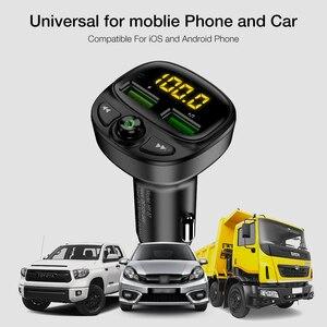 Image 5 - FLOVEME 3.4A شاحن سيارة سريع Fm الارسال بلوتوث المزدوج USB شاحن هاتف السيارة المحمول شحن سريع MP3 TF بطاقة الموسيقى سيارة عدة