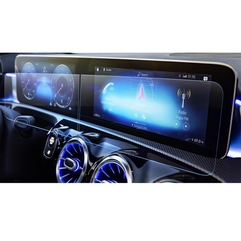 LFOTPP For Mercedes Benz A-Class W177 V177/B-CLASS W247 2019 Car Navigation Display Tempered Glass Auto Interior Protect Sticker