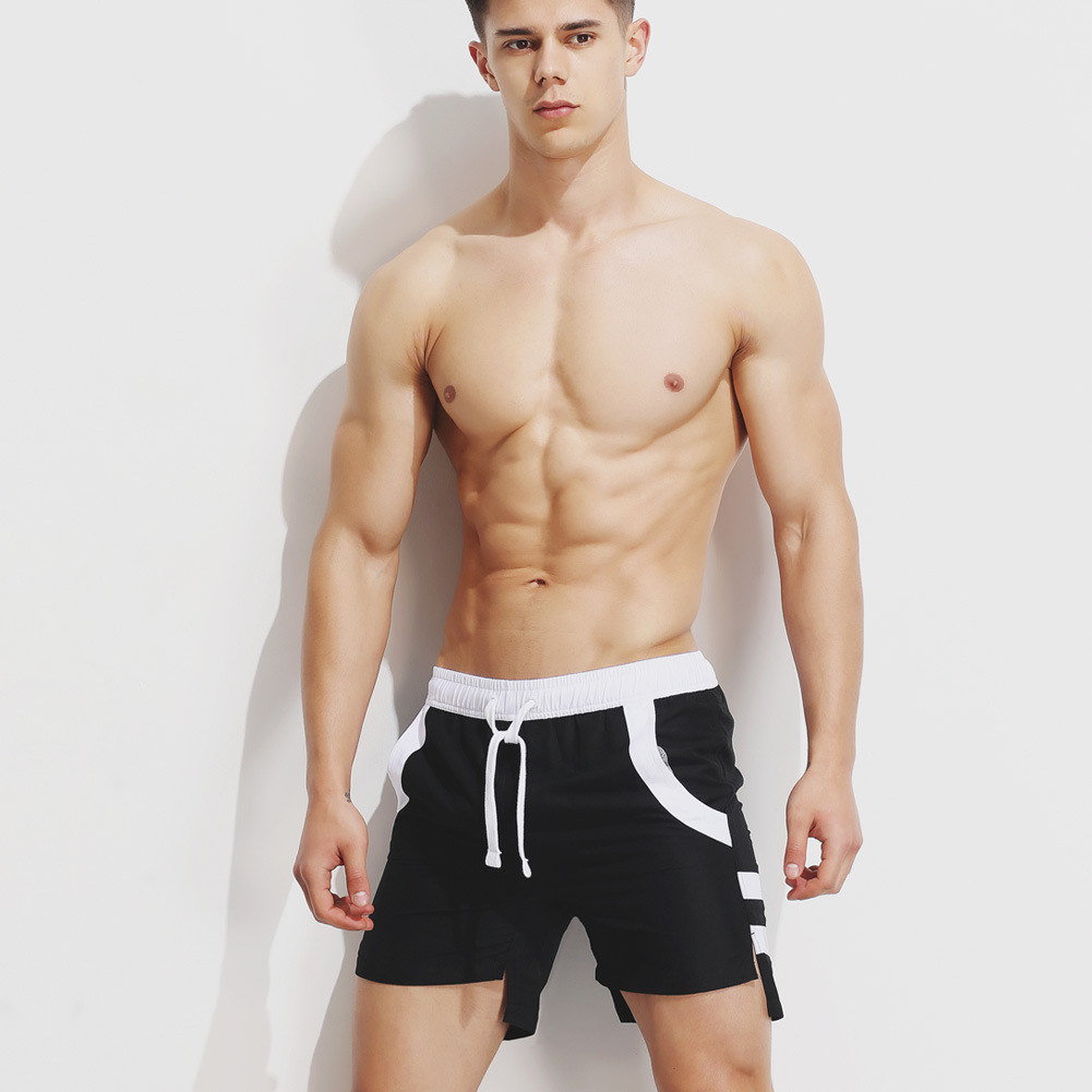 Superbdy New Style Men Casual Beach Shorts Athletic Pants Front Short Long Back Loose-Fit Shorts