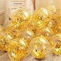 20 штук блестками воздушные шары День рождения украшения свадебные Anniversaire Вечеринка Бумага конфетти из фольги Globos Balony 12 дюймов