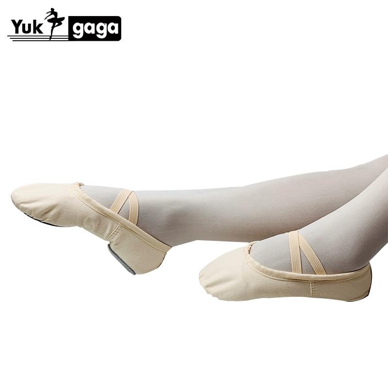 Pantoufles de Ballet classiques pour filles, chaussures de danse en toile à semelle fendue, gymnastique pour bébé, chaussures de Yoga pour enfants, ballerines pour femmes, A02d2 3