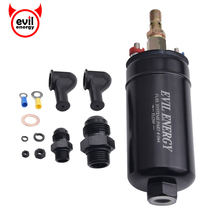 Universal 380LPH High Pressure Electric Inline Fuel Pump E85 Compatible Fuel Pump Replace Kit Fit For AN10 Inlet/ AN8 Outlet