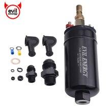 Universele 380LPH Hoge Druk Elektrische Inline Brandstofpomp E85 Compatibel Brandstofpomp Vervangen Kit Fit Voor AN10 Inlaat/AN8 outlet