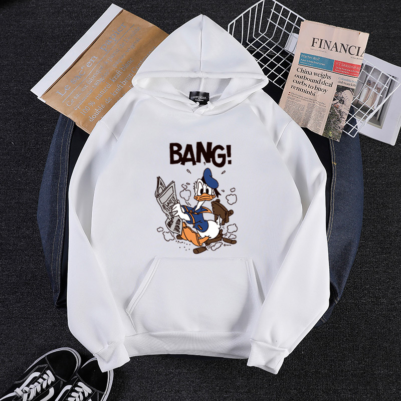 P90  Women 2019 Spring New Cartoon Print Large Size Long Coat Fashion Female Hoodies & Sweatshirts Mickey Women's Clothing