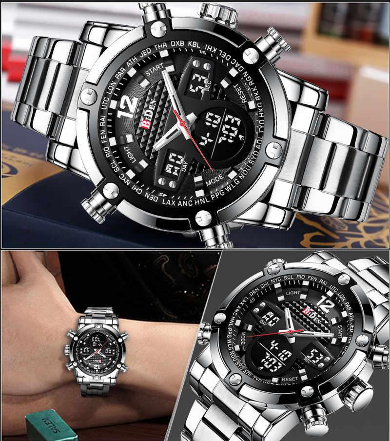Marque de mode BIDEN hommes montres militaires hommes montre horloge numérique Quartz LED Sport montre-bracelet pour hommes Relogio Masculino