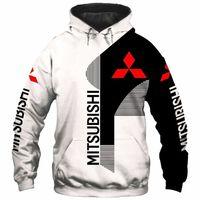 Hoodies Männer Mitsubishi Auto Logo Drucken Frühling Herbst Männer Herren Jacke 3D Hoodie Mode Casual Hoody Männlichen Tops Kleidung