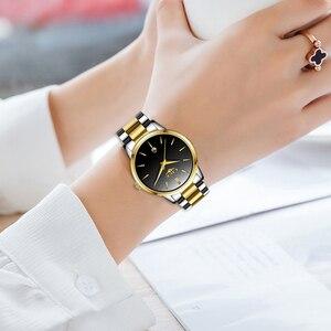 Image 5 - LIGE 2020 새로운 패션 골드 시계 여성 시계 숙녀 크리 에이 티브 스틸 여성용 팔찌 시계 여성 선물 시계 Relogio Feminino