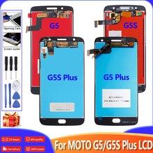 100% протестирован для Motorola Moto G5S Plus G5 Plus ЖК-дисплей сенсорный экран дигитайзер в сборе Замена для MOTO G5 G5S ЖК + рамка