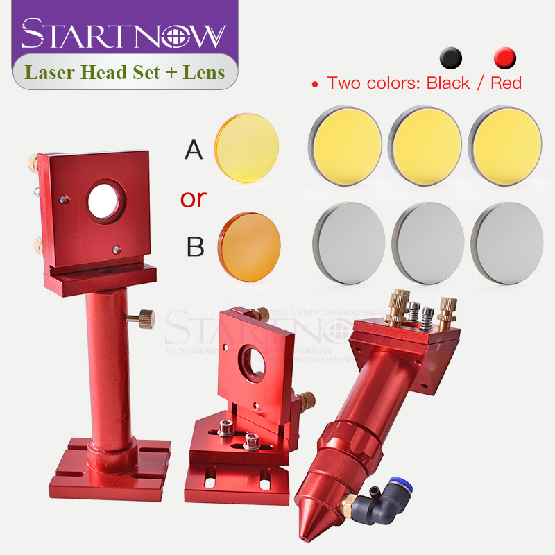 Startnow Laser Head Components Laser Focusing Lens & Mirror Integrative Fixture Mount Holder For CNC CO2 Engraver Metal Machine