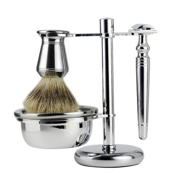 Retro Manual Razor Set Razor Shaving Brush Shaving Brush Rack Portable For Travel Durable 4 Sets 1