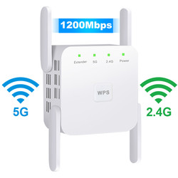 Repetidor WiFi inalámbrico 5G WiFi extensor 1200Mbps repetidor Wifi de largo alcance amplificador de señal Wi-Fi AC 2,4G 5ghz Ultraboost