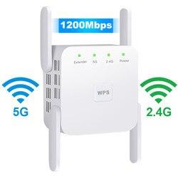 Senza fili WiFi Del Ripetitore 5G WiFi Extender 1200Mbps Repiter Wifi A Lungo Raggio Ripetitore Wi-Fi Amplificatore di Segnale AC 2.4G 5ghz Ultraboost