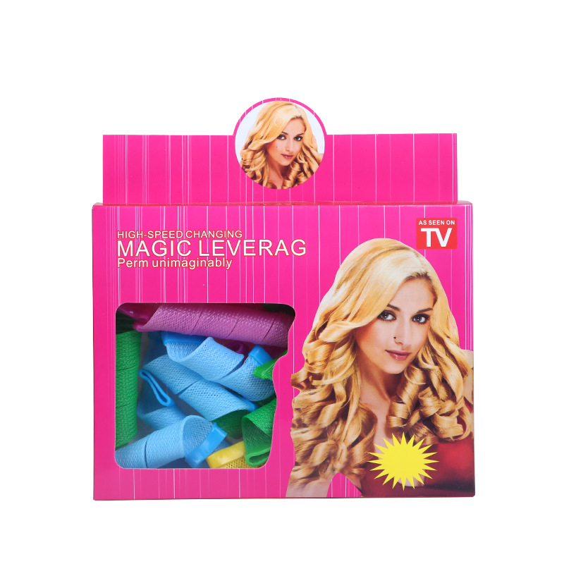 Character Air Bang Hair Roller Large Curls Up-do Useful Product Hair Curler Pear Blossom Self-Adhesive Inner Buckle Plastic Curl