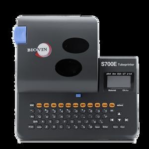 Image 1 - S700E خط رقم آلة يمكن توصيلها إلى غلاف الكمبيوتر آلة وسم الحرارة أنبوبة قابلة للانكماش طابعة S650E ترقية
