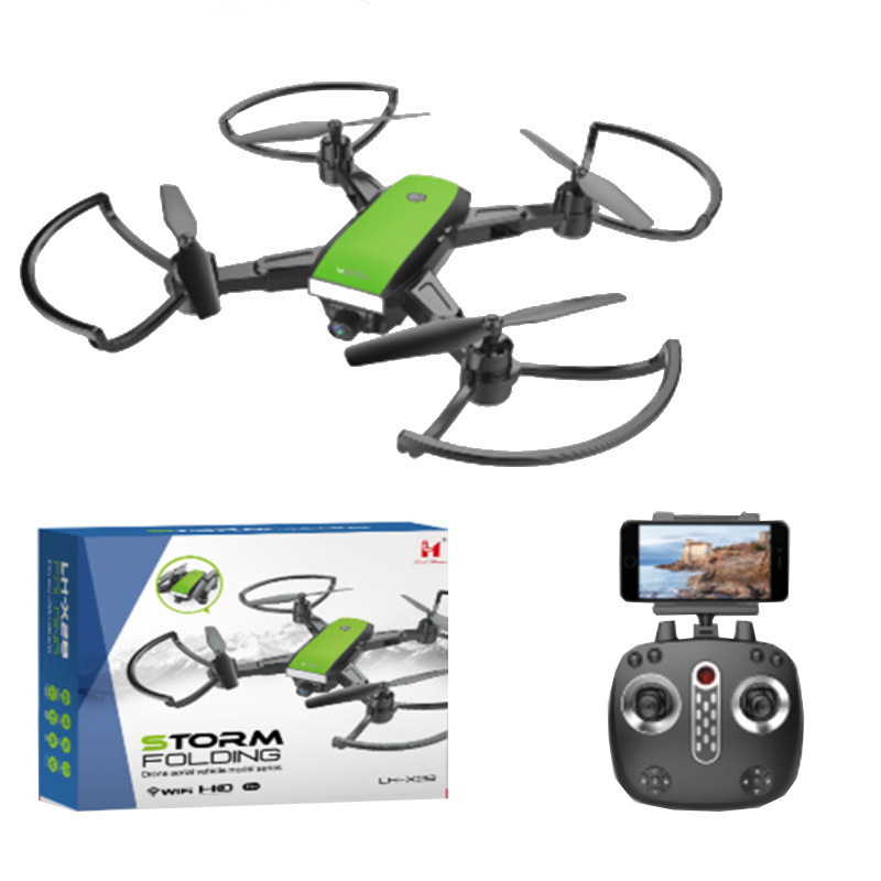 Remote Control Aircraft Quadcopter Unmanned Aerial Vehicle 720p Real-Time Aerial Photography With WiFi Real-Time Camera Video X2