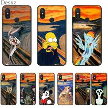 Mobile Cell Phone Case for Xiaomi Redmi 4A 4X 5 5A Plus 6 6A 7 7A 8A S2 K20 Pro Cover Cute Van Gogh Mickey Cat(China)