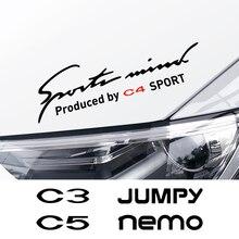 For Citroen Berlingo C1 C2 C3 C4 C4L C5 C6 C8 C Crosser C ELYSEE Jumpy Nemo PICASSO Xsara VTS Accessories Car Eyebrow Sticker