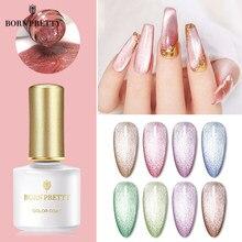 BORN PRETTY – vernis à ongles magnétique, Gel Semi-transparent à paillettes, couleur chair rose, à tremper, UV, 6ml/10ml