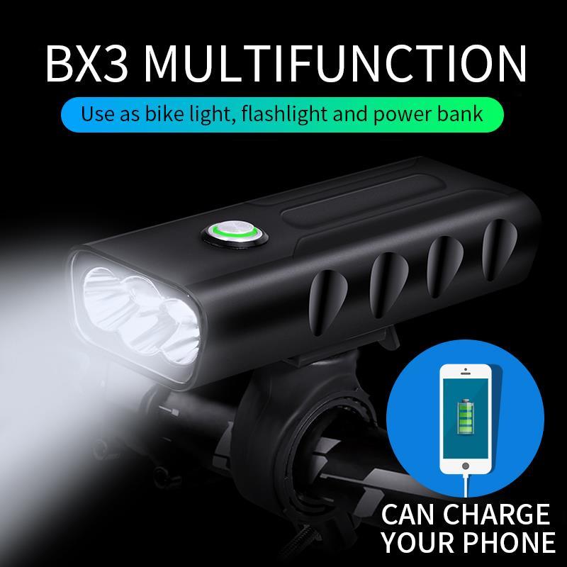 Fietslampjes Usb Bicycle Light Rechargeable 5200mAh Bike Light Waterproof LED Headlight As Power Bank Bike Accessories New