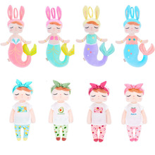 38cm Kawaii Metoo Plush Toys Angela Mermaid Fruit Dolls Drea