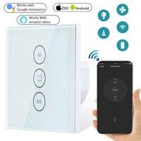 Приложение Smart Life шторка с WIFI переключатель для Электрический моторизованный занавес штора штарки ролика Google Home, Amazon Alexa Голосовое управлен...