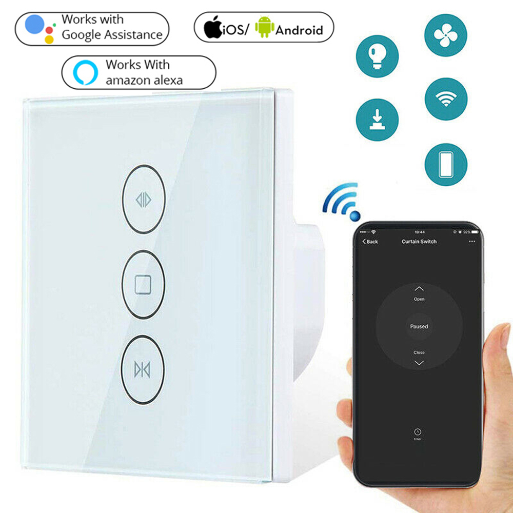 Smart Life WiFi Curtain Switch For Electric Motorized Curtain Blind Roller Shutter Google Home, Amazon Alexa Voice Control