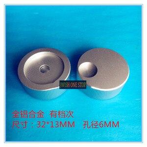 Botão da liga de alumínio 32*13 potenciômetro botão de áudio multimídia alto-falante instrumento guitarra