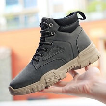 Waterproof Rubber Plush Snow Boots Winter Boots England Retro ankle boots For Men Winter Shoes Super Warm Men Boots *160W цены онлайн