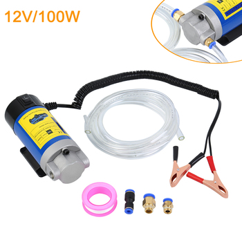 Samger Oil Pump 12V 100W Electric Oil Transfer Extractor Fluid Diesel Pump Siphon Car Motorbike 12 24v car oil for diesel fluid pump extractor transfer pump electric motorbike boat oil pump engine transfer pump extracting