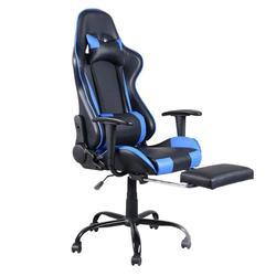 Kursi Kantor untuk Kepala Ergonomis Tinggi Kembali Kursi Putar Balap Game Komputer Kursi Putar Kursi Kantor dengan Pijakan Kaki
