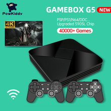 POWKIDDY صندوق الألعاب G5 S905L واي فاي 4K HD سوبر وحدة التحكم X 50 + محاكي 40000 + ألعاب ريترو صندوق التلفزيون لعبة فيديو لاعب ل PS1/N64/تيار مستمر
