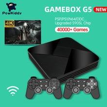 Powkiddy caixa de jogo g5 s905l wifi 4k hd super console x 50 + emulador 40000 jogos retro tv caixa de vídeo jogador para ps1/n64/dc
