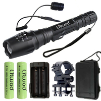 Litwod Z20 Ship From Russian Federation LED Flashlights Torch XM L2 / T6 Zoom For 2x18650 Batteries Run time 10 hours