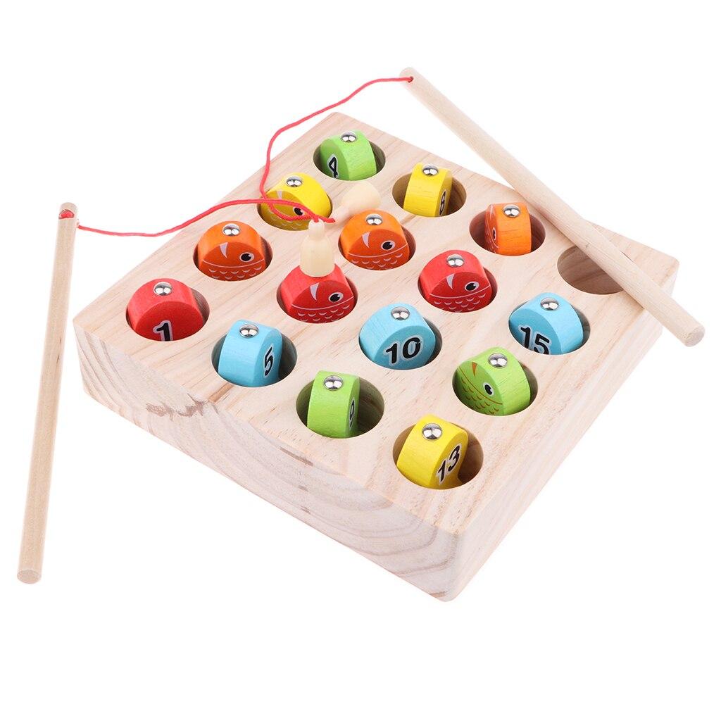 Aimant en bois numéros de boîte de pêche numérique tri jouet de développement pour enfants
