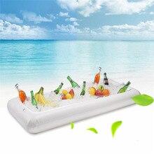 2 шт надувные сервировки/салат бар лоток держатель для питья-гриль для пикника бассейн вечерние буфет с сливной вилкой