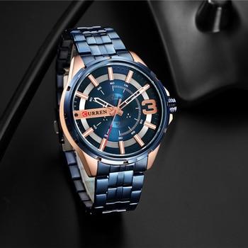 CURREN 8333 Watch Business Men's Clock Fashion Quartz Stainless Steel Wristwaches Waterproof With Box