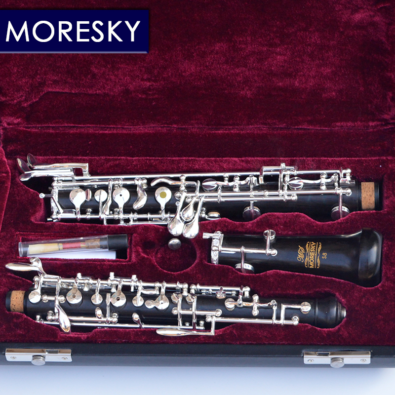 Constructive Moresky Professional C Key Oboe Of Ebony Semi-automatic Fully Automatic Oboe Style Cupronickel Plated Silver