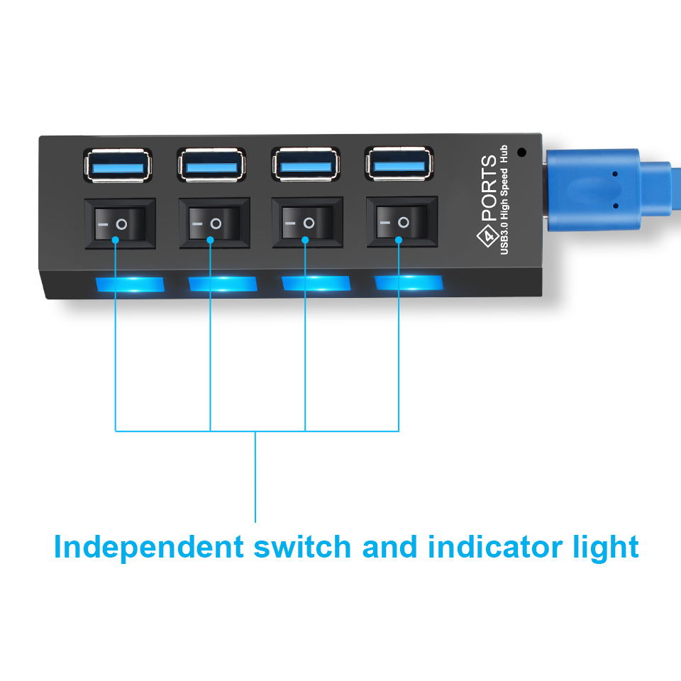 USB 3.0 Hub USB Hub 3.0 Multi USB Splitter 3 Hab Use Power Adapter 4/7 Port Multiple Expander 2.0 USB3 Hub with Switch for PC 3