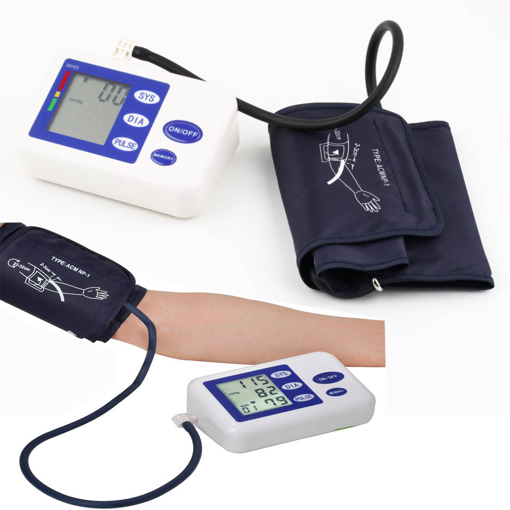 Smartband Arm blutdruck puls manschette monitor gesundheit pflege LCD oberen tragbare blutdruck meter blutdruckmessgerät maschine