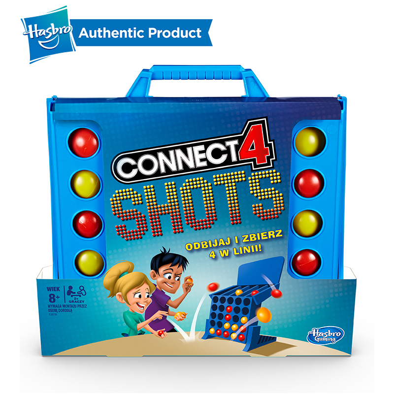 Hasbro Connect 4 Shots Game Cool Battle Board Team Building Fun School Games For Kids 8 And Up Good Toy For Pre-school Children