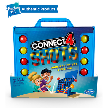 Hasbro Connect 4 Shots Game Cool Battle Board Team Building Fun School Games For Kids 8 And Up Good Toy For Pre-school Children connect 4 classic grid board game toy